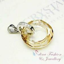 925 Sterling Silver Made With Swarovski Element Ring Pendant (Not With Chain)