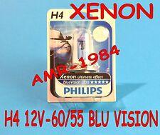 LÁMPARA PHILIPS H4 MOTORRAD 12V-60/55W XENÓN AZUL VISION ULTRA 20123421
