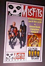 MISFITS  IN-STORE RECORD STORE APPEARANCE POSTER  2013