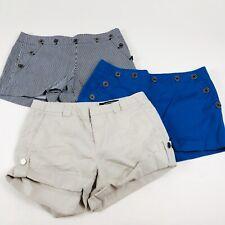 Lot of 3 Club Monaco Shorts AI27 Women Size 0 Cargo Chino Cuffed Multi-color