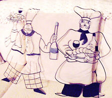 """SET OF TWO DECORATIVE LARGE CHEF/KITCHEN MADE OF BLACK WIRE..APPROX 20-21"""" TALL"""