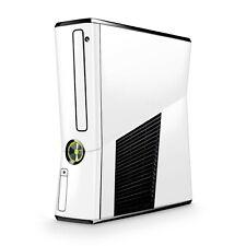 Xbox 360 Slim Skin Aufkleber Schutzfolie Sticker Skins Folie Design Solid White