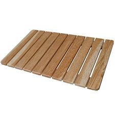 Pedana per doccia antiscivolo 78 x 52 cm con doghe assi in legno larice design
