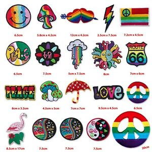 LGBT community Love Colourful rainbow peace life Iron/Sew on Embroidered Patch