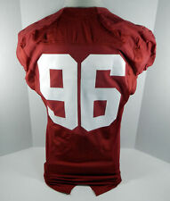 2009-15 Alabama Crimson Tide #96 Game Used Red Jersey BAMA00161