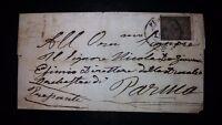 LP Parma 15 cent su lettera senza testo da Piacenza a Parma