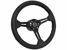 1969 - 1994 Oldsmobile Cutlass Supreme 6 Bolt Black Leather Steering Wheel Kit