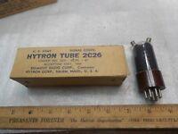 Vintage HYTRON 2C26 Army/Navy Radio Tubes JAN CNU 2C26 NOS 1944