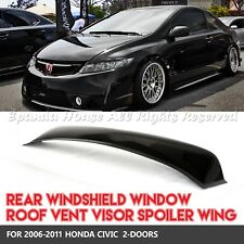 FOR 06-11 HONDA CIVIC 2DR 1PC REAR WINDOW ROOF VISORS SUN GUARD BLOCK ABS SMOKE