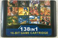 138 In 1 Multi Game Card Cartridge For 16 Bit Sega Genesis MD With Fast Shipping