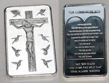 Jesus Christ 10 Commandments Silver Bar Church God Holy Bible Christianity Xmas