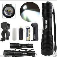 5000LM XM-L T6 LED Tactical Zoom Flashlight Torch Taschenlampen+18650+Ladegerät