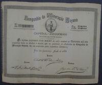 Brazil Companhia de Mineracao Goyana Rio de Janeiro 1885 unentwertet