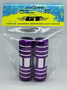 NOS GT Old School BMX Freestyle Pegs 26TPI Purple Pro Performer