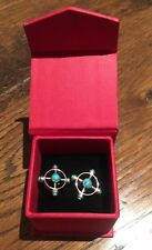 Silver And Turquoise Cufflinks, Amrapali ( amazing present )