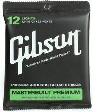 Gibson Masterbuilt Premium, Phosphor Bronze Acoustic Guitar | Lights 12-53