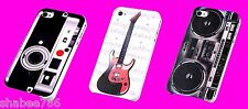 Cool Lot 3 Colorful Rubberized Back Skin Hard Cover Case Apple Iphone 4 4S 4G