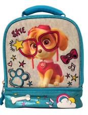 PAW PATROL SKYE Girls BPA & Lead-Free Dual Chamber Lunch Tote Bag Box NWT