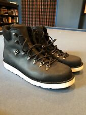DIEMME Black Leather Men's Boots w/ White Vibram Sole - Italy - 12 US / 45 EU
