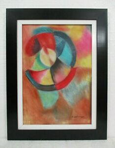 ROBERT DELAUNAY (1885-1941) PASTEL ON PAPER WITH FRAME IN GOOD CONDITION
