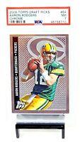 2006 Topps Draft Picks CHROME Packers AARON RODGERS Card PSA 7 NEAR MINT Pop 4