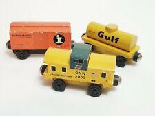 Whittle Shortline Gulf Oil Tanker North Western Illinois Central Box Car Train