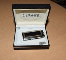 Colibri Polished Stainless/Black Enamel Money Clip New In Box