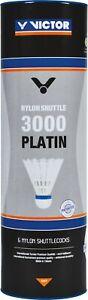 *NEW* VICTOR Nylon Shuttlecocks 3000 'Platinum' - Yellow or White - Medium Speed