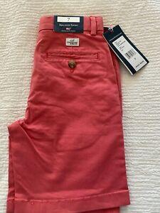 NWT Vineyard Vines Jetty Red Breaker Shorts - Boys 7