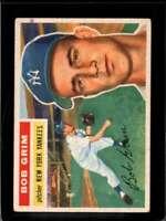 1956 TOPPS #52B BOB GRIM GOOD+ YANKEES WHITE BACKS *NY3253
