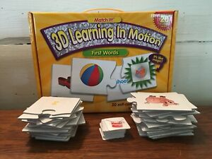 2011 Match It 3-D Learning in Motion First Words Self Correcting Puzzle Set