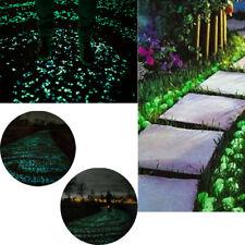 100Pcs Glow in Dark Pebbles Stone Garden Walkway Aquarium Fish Tank Valentine