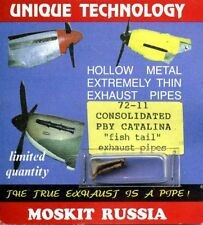 Moskit Exhaust 1:72 Consolidated PBY Catalina Fish Tail Exhaust #Moskit72-11