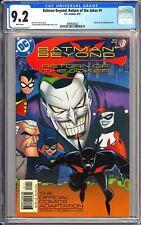 Batman Beyond: Return of the Joker #1 CGC 9.2 WP 3889928020 Animated  Movie!