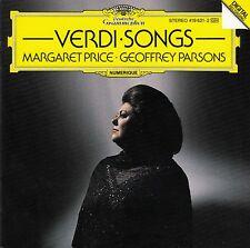 VERDI : LIEDER - MARGARET PRICE, GEOFFREY PARSONS / CD