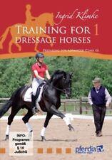 HORSE DVD TRAINING FOR DRESSAGE HORSES VOL 1 BY INGRID KLIMKE.