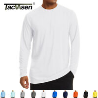 Men's Casual Soft Long Sleeve Shirts Outdoor Skin/Sun Protection T Shirts Tops
