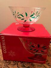 Gorham Festive Holly Large Serving Bowl