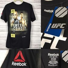 S UFC 195 Lawler VS Condit Event Reebok Shirt Small Short Sleeve Tee