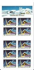 FRANCE 2002 NEW YEAR SNOW-COVERED HOUSE SG 3869 CSB51 BOOKLET 46c X 10.MINT