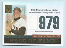 WILLIE MAYS 2004 TOPPS TRIBUTE HALL OF FAME GAME USED JERSEY # TR-WM5