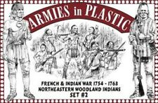 ARMIES IN PLASTIC 1/32 F&i War 1754-63 NE Woodland Indians set #2 ARM5548
