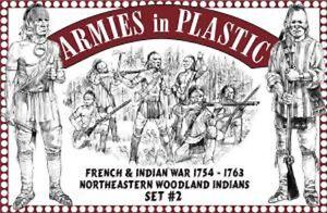ARMIES IN PLASTIC 1/32 F&i War 1754-63 NE Woodland Indians set #2 ARM5548
