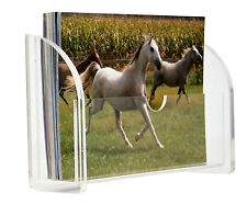 A6 postcard & leaflet dispenser / Acrylic holder / stand / in Landscape display