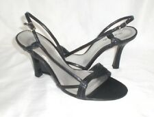 Maripe Kensey strappy sandals black 4 inch heel sz 9.5 Med NEW