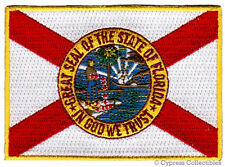 FLORIDA BIKER VEST PATCH iron-on EMBROIDERED STATE FLAG EMBLEM
