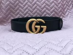50/% Sale Vintage 90s Women/'s Accessories Genuine Black Leather Belt Waist 27-30 inch
