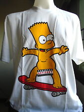 The Simpsons Bart Naked on a Skateboard New T-Shirt NWT Size XL