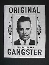 "(074) GANGSTER JOHN DILLINGER ORIGINAL OUTLAW PROHIBITION CRIME POSTER 11""x14"""