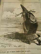 Litho 1868 - L'Astrologue qui se laisse tomber dans un puits